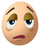 A sad egg Stock Images