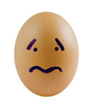 Sad eggs Royalty Free Stock Photos