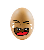 Sad  eggs Royalty Free Stock Images
