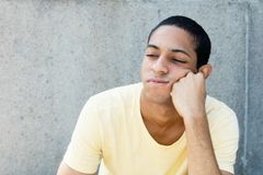 Sad egyptian young adult man royalty free stock image