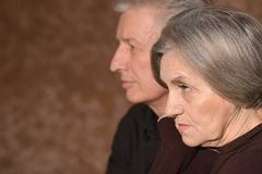 Sad elder couple Stock Photography