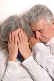 Sad elder couple Stock Image
