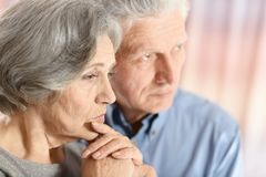 Sad elder couple Royalty Free Stock Photography