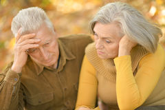 Sad elder couple Royalty Free Stock Images