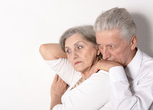 Sad Elderly couple Stock Photos