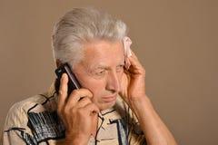Sad elderly man Royalty Free Stock Photo