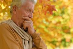 Elderly man in park Stock Photography