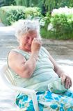 Sad elderly woman Royalty Free Stock Photos