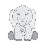 Sad elephant Royalty Free Stock Photos