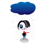Sad emo. Vector. Royalty Free Stock Image