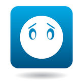 Sad emoticon without mouth icon Stock Images