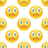 Sad emoticon pattern Stock Image