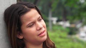 Sad Emotional And Tearful Teen Girl stock footage