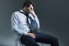 Sad employee lost his job Stock Photography