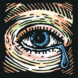 Sad Eye. Symbolic vector illustration of a crying eye Royalty Free Stock Photography