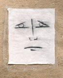 Sad face. A charcoal draw of a sad face Stock Photo