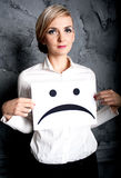 Sad face Stock Photo