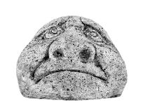 Sad face. In black and white Stock Photo