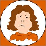 Sad face Royalty Free Stock Image