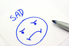 Sad face Royalty Free Stock Image
