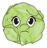 Sad face of cabbage Stock Photo