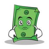 Sad face Dollar character cartoon style. Vector illustration Stock Photo