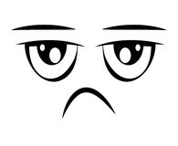 sad face emoticon isolated icon design Stock Photos
