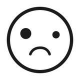 sad face emoticon isolated icon design Royalty Free Stock Image