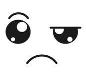 sad face emoticon isolated icon design Royalty Free Stock Photography