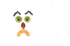 Sad face fruits Royalty Free Stock Image