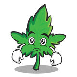 Sad Face Marijuana Character Cartoon Stock Photos