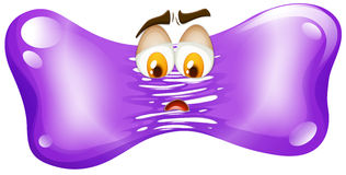 Sad face of purple freeform. Illustration Stock Image