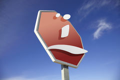 Sad face road sign Royalty Free Stock Photography