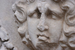 Sad face sculpture Royalty Free Stock Photography