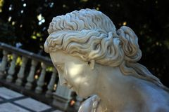 Sad face of statue royalty free stock photo