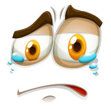 Sad face with tears Stock Photography