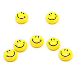 Sad face up of yellow smileys Stock Photography