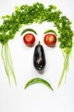 Sad face. Vegetables sad face  on wihite background Stock Image