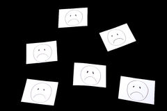 Sad faces Stock Image