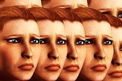 Sad Faces Background 4 Royalty Free Stock Photos