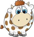 Sad Farm Cow Vector Royalty Free Stock Image