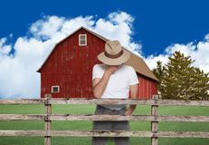 Sad farmer Royalty Free Stock Photos