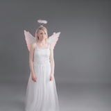 Sad female angel Royalty Free Stock Images