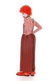 Sad female clown suspenders Royalty Free Stock Photo