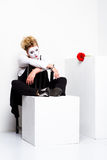 Sad female pantomime Royalty Free Stock Image