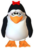 Sad female penguin Royalty Free Stock Image