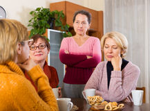 Sad  female pensioners Stock Image