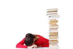 Sad female student with learning difficulties Stock Photos