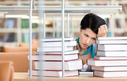 Sad female student Royalty Free Stock Images