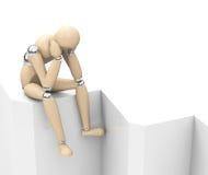 The sad figure Royalty Free Stock Image